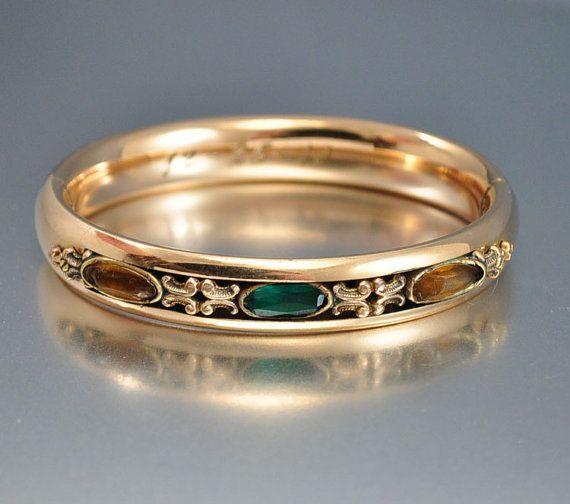 Antique Gold Filled Edwardian Victorian Bracelet  Vintage Jewelry