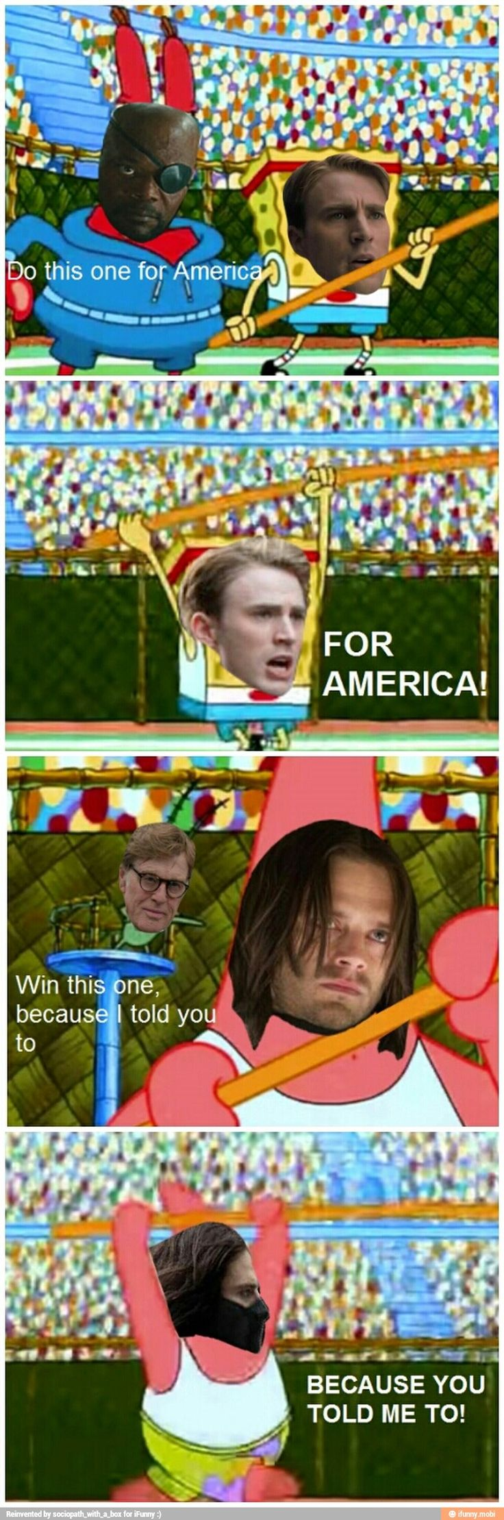 Who thought Spongebob and Captain America: The Winter Soldier would be even slightly similar?