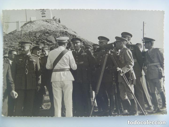 Militaria: SIDI IFNI : VISITA DEL GENERAL ( AVANCE EN ESCALA, ETC), AYUDANTE Y OTROS OFICIALES - Foto 1 - 89501348