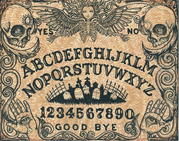 Free Printable Ouija Boards Online   Ouija Board Painting by Shayne of the Dead - Ouija Board Fine Art ...