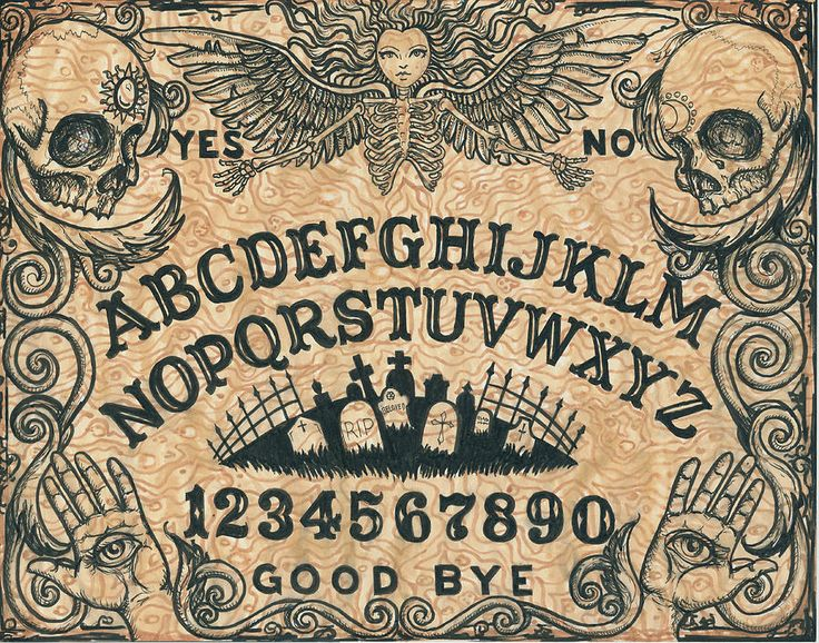 Free Printable Ouija Boards Online | Ouija Board Painting by Shayne of the Dead - Ouija Board Fine Art ...