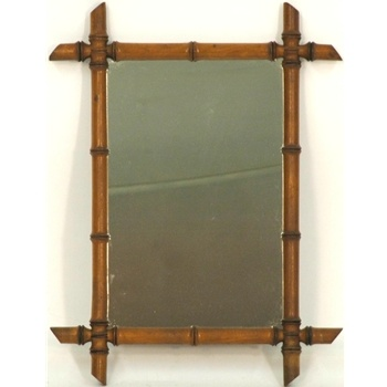 Bamboo framed mirror for our Safari/jungle themed bathroom