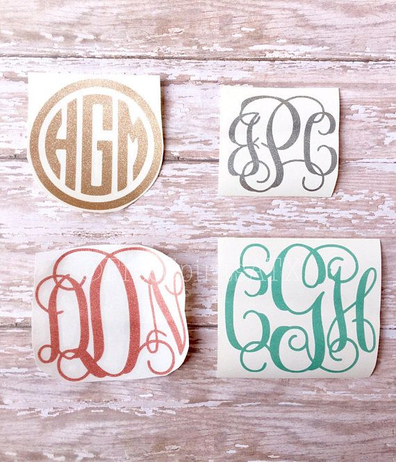 Glitter Monogram Decal, Gold Yeti Decal, Glitter Monogram, Yeti Decal, Laptop decal, monogram sticker for yeti, car decal, yeti cup decal, phone decal, tumbler decal, monogram stickers, circle monogram, custom monograms, monogram decals, car decals, yeti sticker, yeti monogram decals, yeti decal, monogram decal, vine monogram.  These monograms are great for personalizing and you can put them on just about anything to add a personal touch. They are easy to apply and stick to almost any smooth…