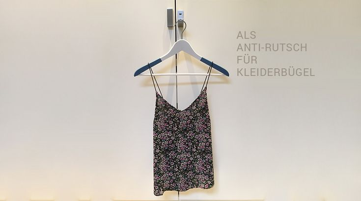 Kleiderbügel gedippt mit mibenco Flüssiggummi pastellblau matt - Anti-Rutsch Effekt!