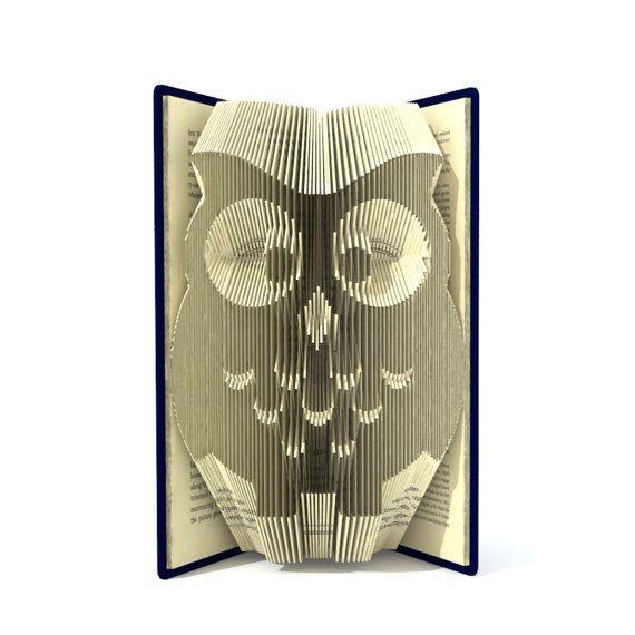 Buchen Sie Falten Muster OWL 2 von SimplexBookFolding auf Etsy