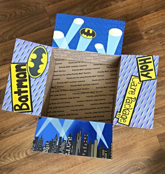 Deployment Care Package Decorating Kit- Holy Care Package Batman