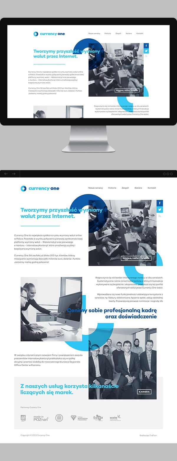 Currency One on Web Design Served
