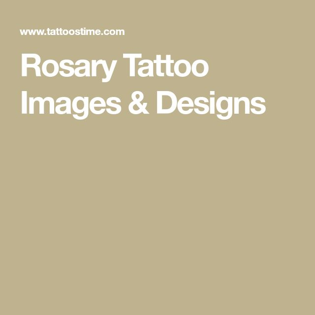 Rosary Tattoo Images & Designs