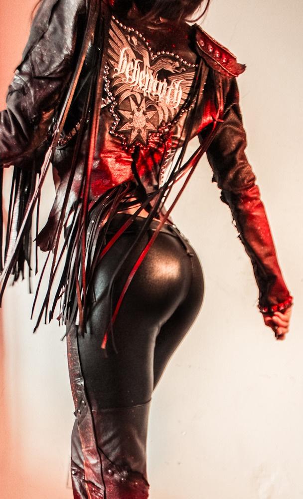 Image of TOXIC VISION Behemoth studded leather warrior jacket