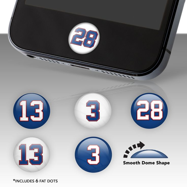 Buffalo Bills Player Number Fat Dots