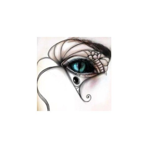 goth cat eye image, picture by one_irish_rose - Photobucket ❤ liked on Polyvore featuring beauty products, eyes, makeup, backgrounds, people and faces