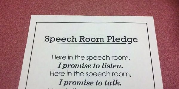 Do You Say a Speech Room Pledge During Speech Therapy? [Free Download]