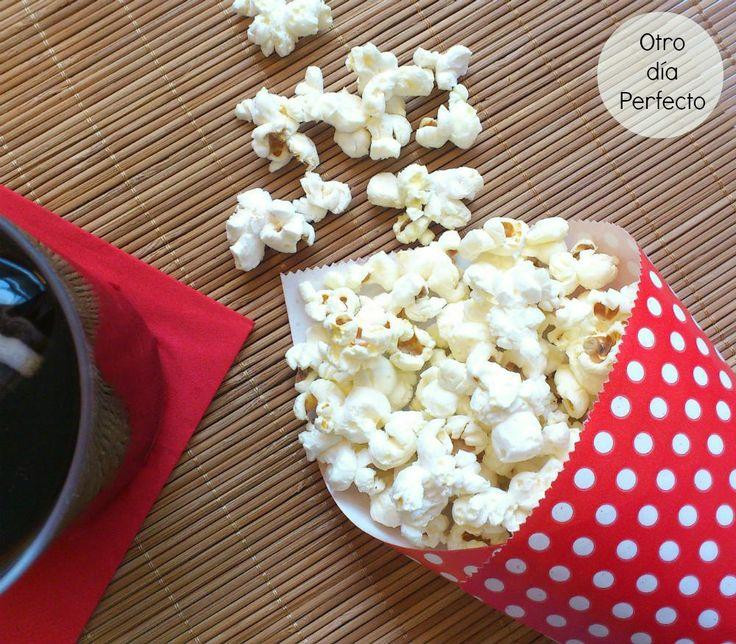 Otro día Perfecto. Palomitas de maíz caseras. www.otrodiaperfecto.com
