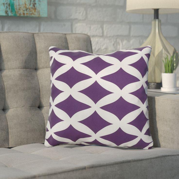 Geometric Polyester Throw Pillow