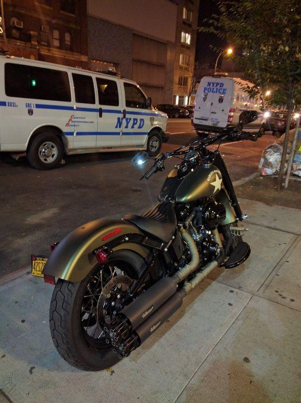 Оригинально владелец с трубами придумал Harley-Davidson, мотоциклы, тюнинг, nexus 6p, длиннопост