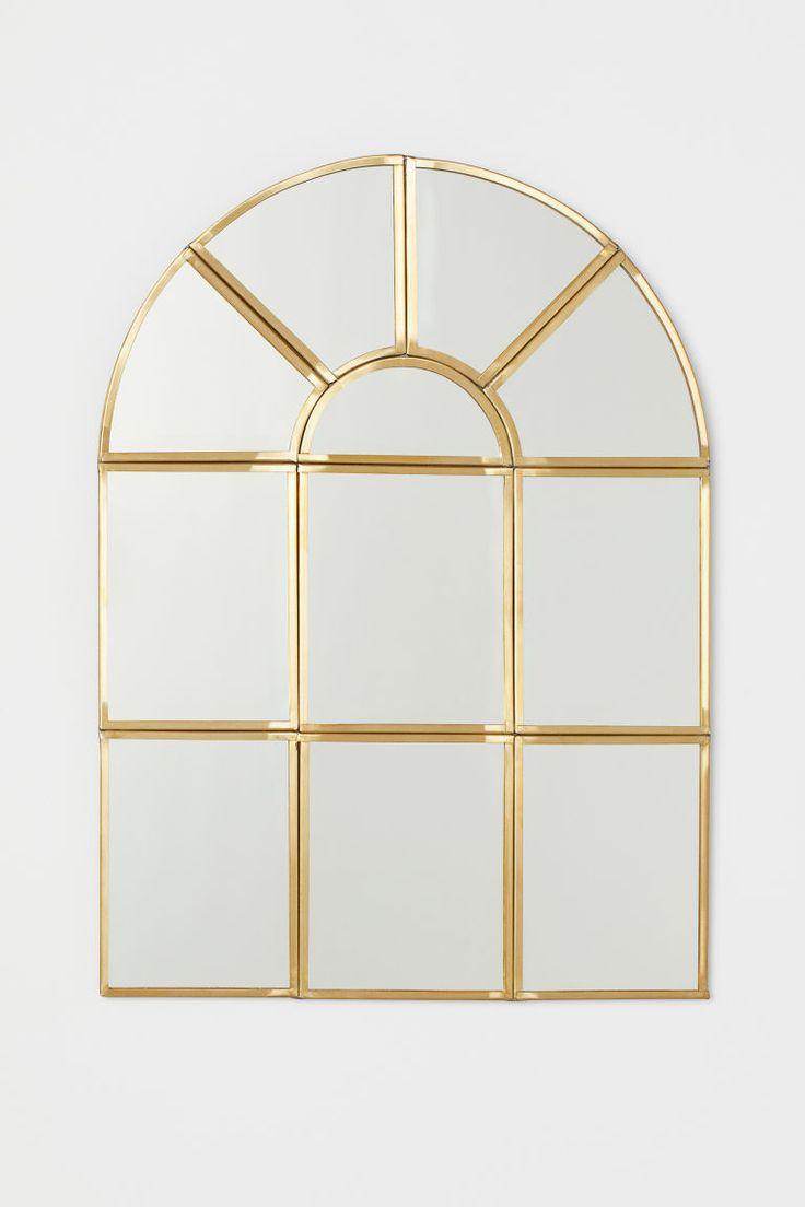 H Amp M Window Shaped Mirror Gold Home Dizayn 2019
