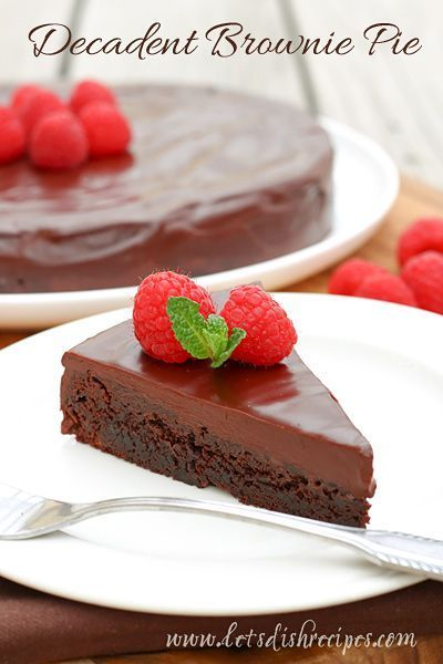 Decadent Brownie Pie | You won't believe how easy it is to make this this rich chocolate restaurant quality dessert.
