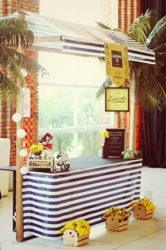 decor, feira livre, stand, food hut, food fair, black and yellow, barraca de feira, amarelo e preto.