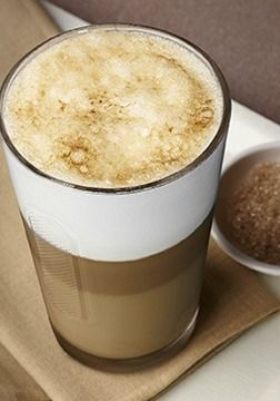 Double Crème Brulée Latte Macchiato | Decadent dessert meets warm morning pick-me-up in this divine coffee creation.