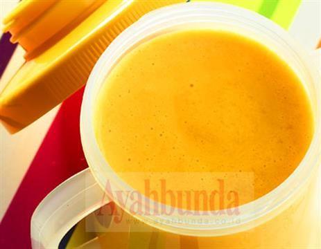 Jus Mangga Avokad | Mango-Avocado Baby Juice. For 6 months +, recipe in Bahasa Indonesia