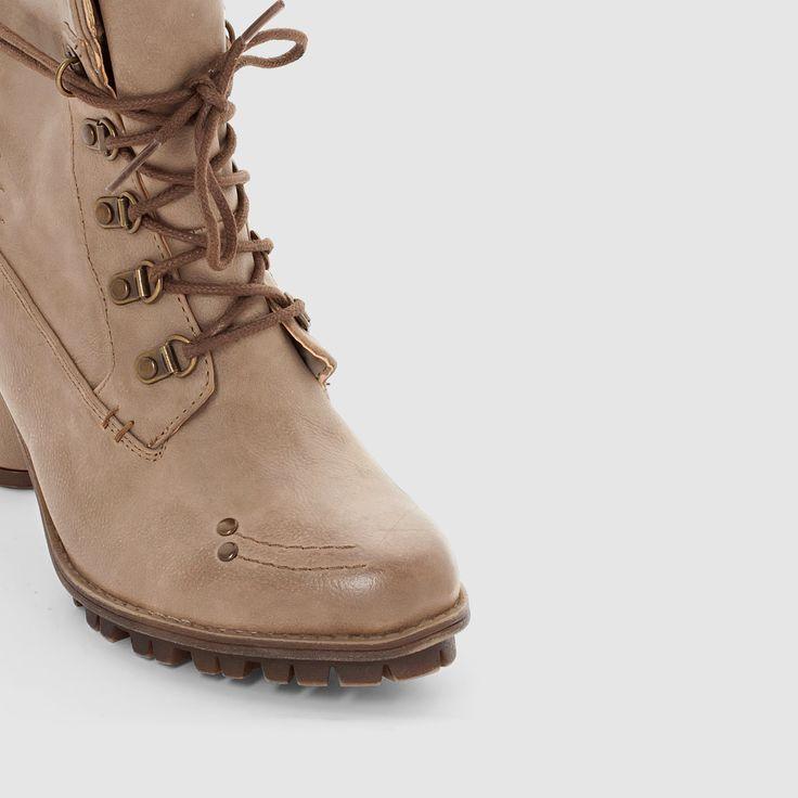 Botas com tacão alto 1141609 toupeira Mustang Shoes | La Redoute