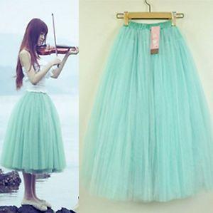 Sweet-Style-Princess-Skirt-Womens-Petticoat-Tulle-Long-Dress-Layered-Tutu-Dress