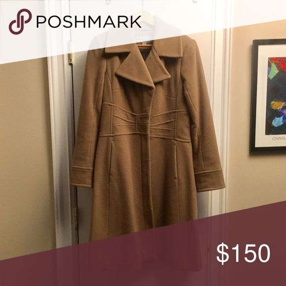 Size 6 Andrew Marc wool coat Size 6 Marc New York wool coat in camel.  Like new! Andrew Marc Jackets & Coats Trench Coats
