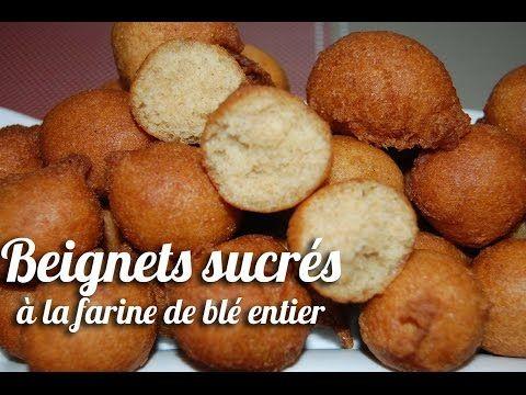 Beignets sucrés à la farine de blé entier (beignets soufflés) - YouTube