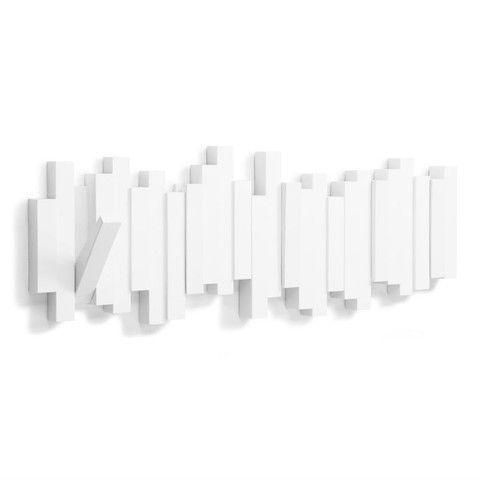 scandi style multi wall hook white