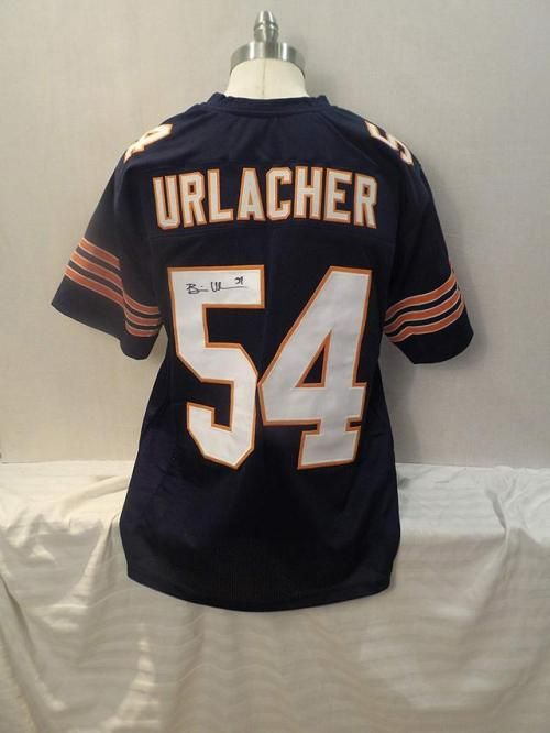 best cheap 0c402 f2452 Brian Urlacher Signed Chicago Bears Blue Autographed Jersey ...
