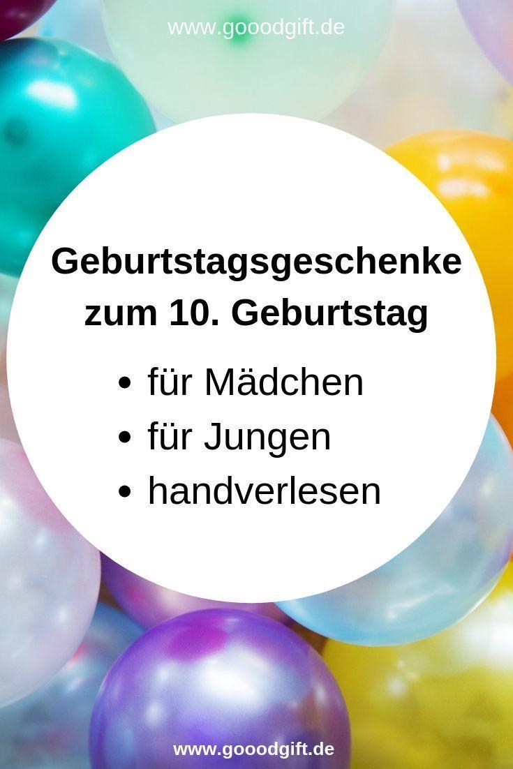 Der 10 Geburtstag Ist Ein Ganz Besonderes Ereignis Das Muss Mit Besonderen Geschenkideen Z Geschenke Fur Jungs Geschenkideen Kinder Geschenk Madchen 10 Jahre