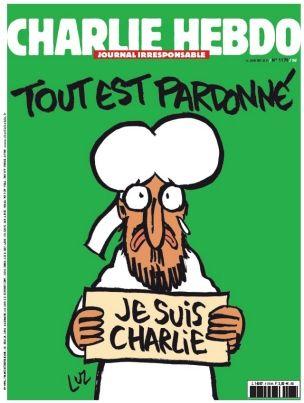 Mahomet en une du «Charlie Hebdo» de mercredi