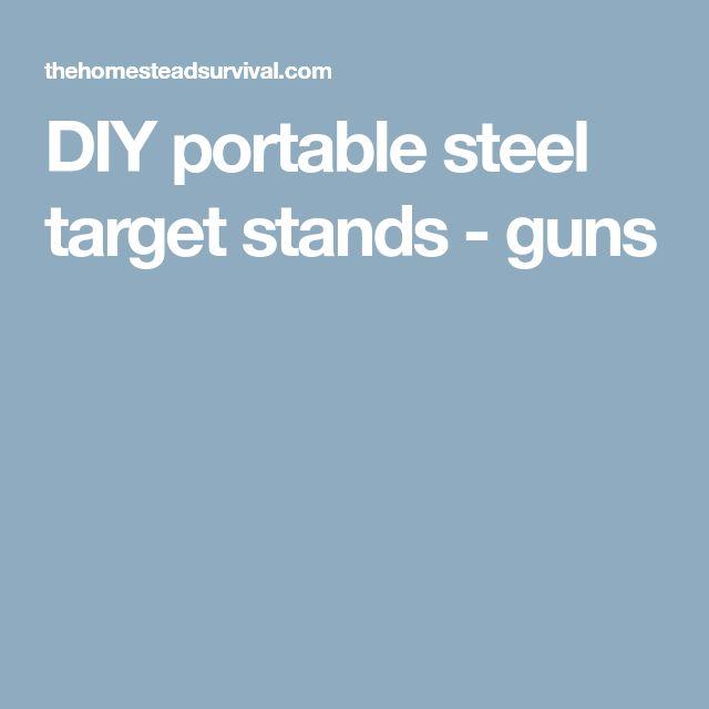 DIY portable steel target stands - guns