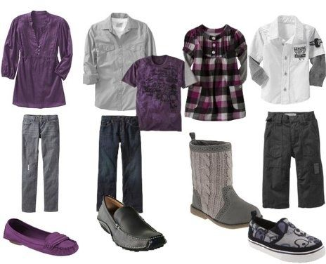 Family Photo What to Wear with purple | family photo outfits