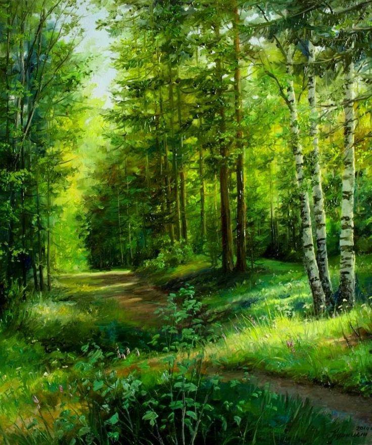лес живопись картинки как выглядит полностью
