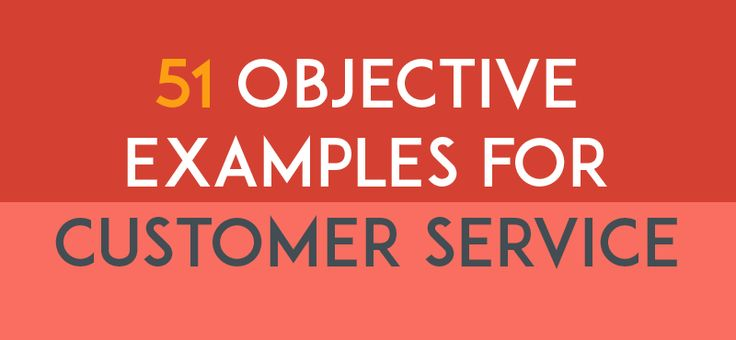 Resume Objective Examples for Customer Services