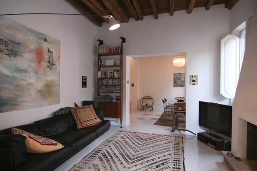 Living room  Private appartment in the heart of #Rome Collaborator with Manfredi Pistoia Architetti