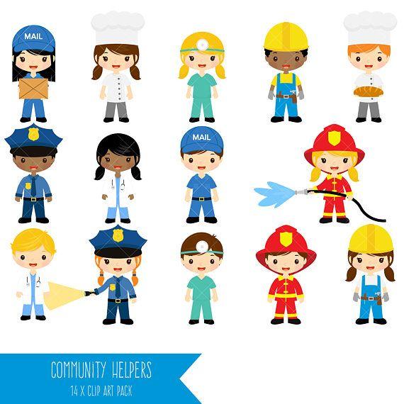 Comunidad ayudantes imágenes prediseñadas  Trabajo de Clip