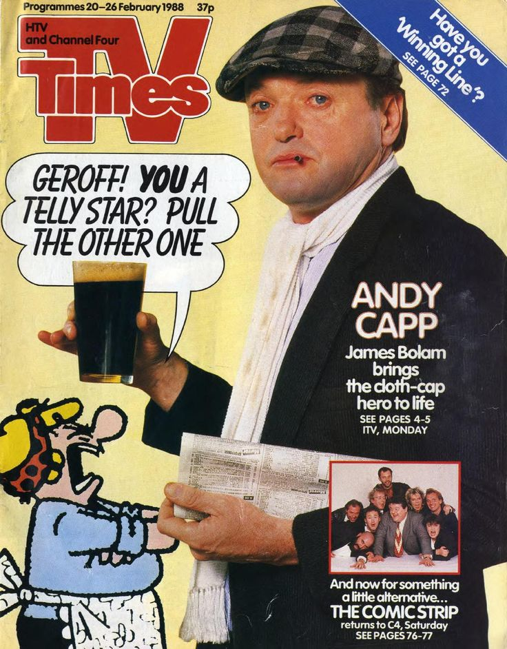 James Bolam as Andy Capp. Thames Television, 1988