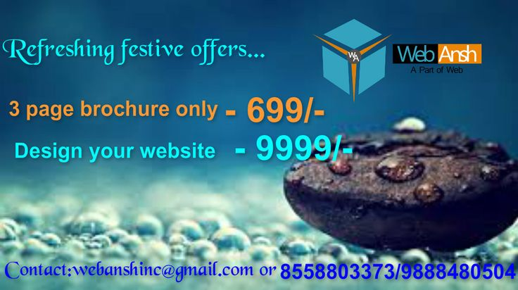 Refreshing festive offers by WebAnsh  Grab the deal..... Limited offer.....