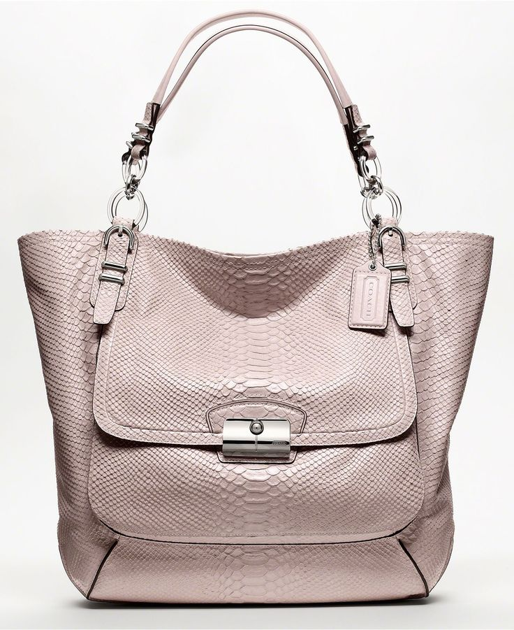 COACH KRISTIN COACH PINNACLE EMBOSSED PYTHON TOTE