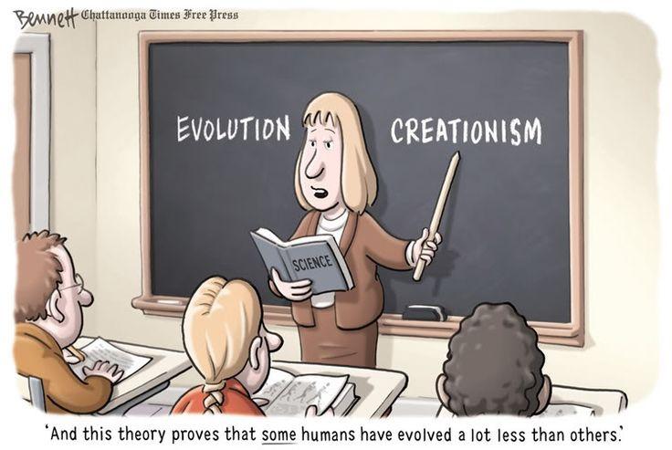 ... CREACIONISMO: Y esta teoría prueba que algunos humanos han evolucionado mucho menos que otros.