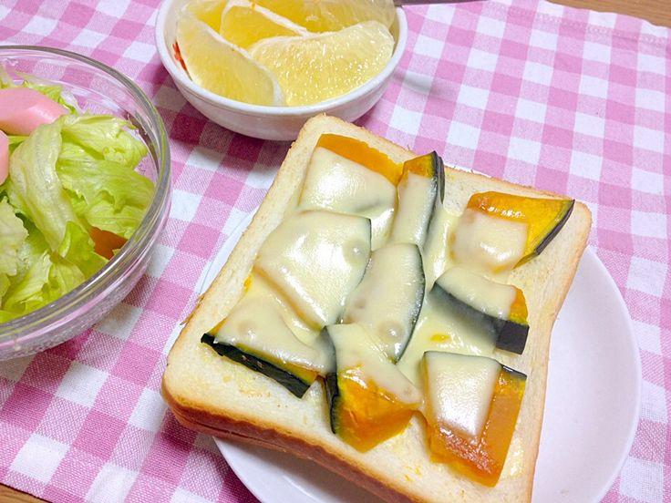 たきゃた's dish photo 簡単レシピ かぼちゃのハニーチーズトースト | http://snapdish.co #SnapDish #レシピ
