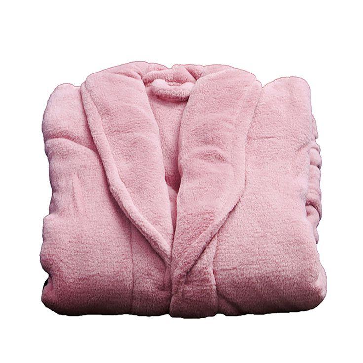 Roupão de Banho Feminino Microfibra Rose - Camesa - Precolandia
