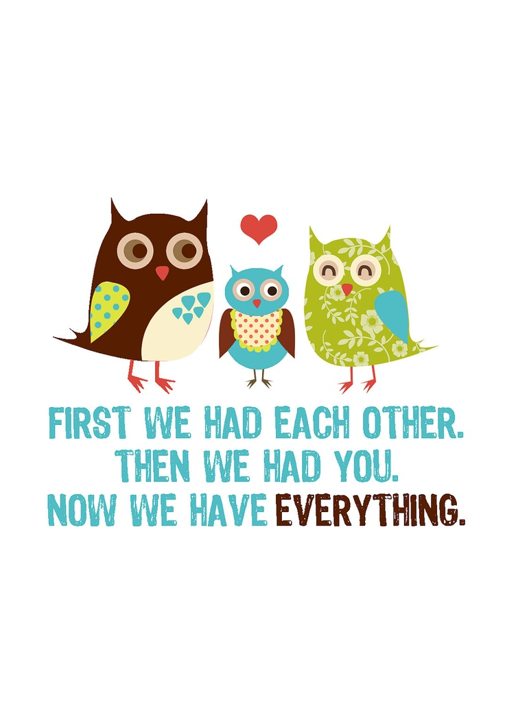 now we have everything owl family. so cute.