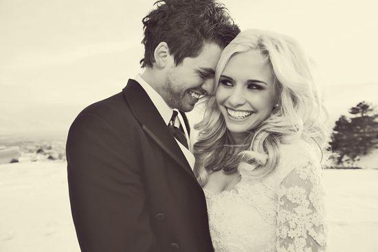 I love wedding portraits like this.