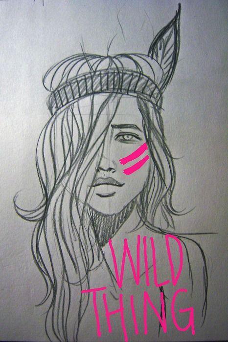 pink, fashion, tribal, sketch, art