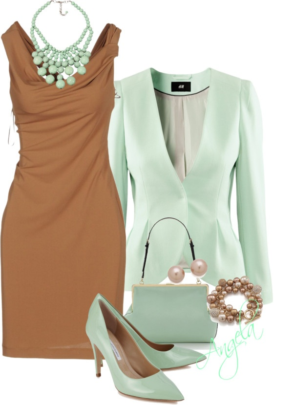 """""""Mint Chocolate"""" by angela-l-s ❤ liked on Polyvore"""
