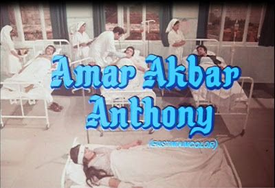 Amar Akbar Anthony movie poster http://leojpeo.blogspot.in/2012/06/bollywood-stereotypes.html