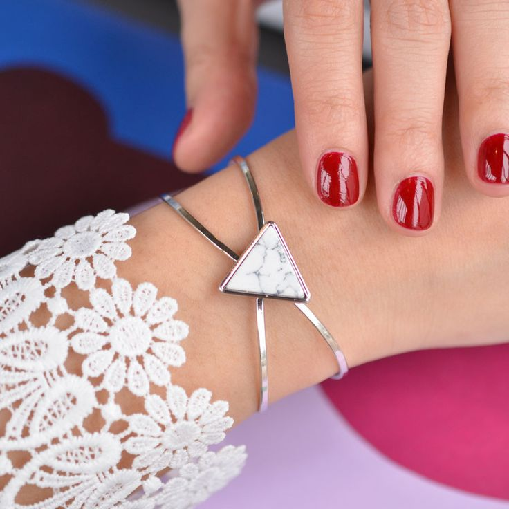 Delta Maya White Silver Jonc Bracelet - Majolie - 1